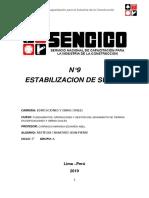 informe 9 estabilizacion