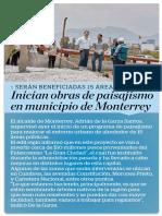 04-07-19 Inician obras de paisajismo en municipio de Monterrey