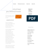 Excel Shortcut Keys You SHOULD Know! - Xelplus - Leila Gharani