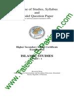 Islamic Studies HSSC I Syllabus and Model Question Paper Fbise