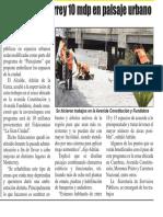 04-07-19 Invertirá Monterrey 10 mdp en paisaje urbano