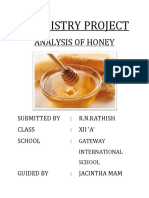 Analysis of Honey Xii A