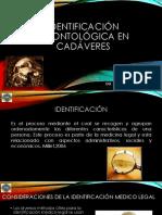 Identificacion Odontologica en Cadaveres Exhumacion e Inhumaciones Clase 4
