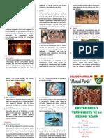 Costumbres y Tradiciones de La Región Selva