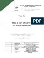 MOI, CHAIR ET CORPS. sobre la ontologia de michel henry.pdf