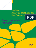 Analysis Methods for the Brewery Industry