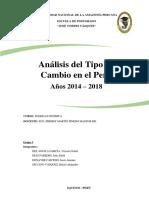 Tipo de Cambio 2014 - 2018
