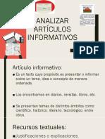 Analizar artículos informativos