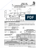 Airplane Weighing Form
