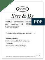 training report on pmmc