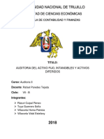 Auditoría de Activos Fijos Intangibles y Diferidos