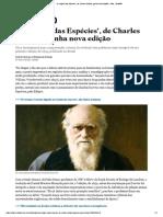 2018.04.07 OESP [Aliás] - 'a Origem Das Espécies', De Charles Darwin, Ganha Nova Edição