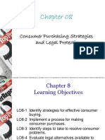 Chapter 8 - Consumer Purchasing Strategies and Legal Protection