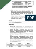Pei-sst-007 Procedimiento de Identificación de Peligros, Valoración de Riesgos y Determinación de Controles.