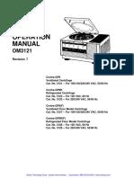 Artisan Centra GP-8 Centrifuge - User Manual