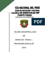 Sylabo Dº Penal I 2016