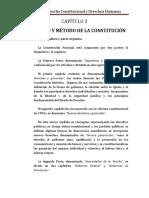 CAPÍTULO 3 - Contenido y Método de La Constitución