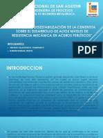 Efecto de La Desestabilización de La Cementita Sobre El Desarrollo de Altos Niveles de Resistencia Mecánica en Aceros Perlíticos