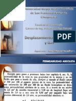 Desplazamiento de Petroleo y Gas