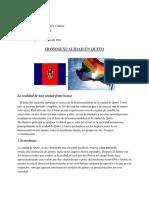 Reportaje Homosexualidad en Quito
