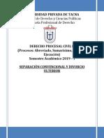 SEPARACION CONVENCIONAL Y DIVORCIO ULTERIOR++++