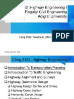 Highways Engineering I