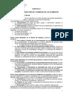 CAPITULO I Propiedades Fisicas y Químicas de Alimentos