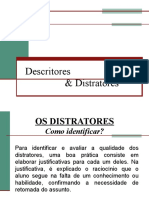 Descritores e Distratores