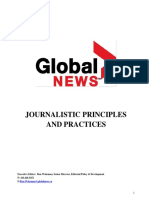 Global News Journalistic Principles and Practices