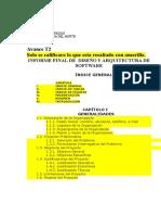 Estructura de Informe - Avance T2 Diars -2019-1