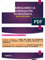 Edesarroolo de La Inv. Tecnologica Paso a Paso Clase 5