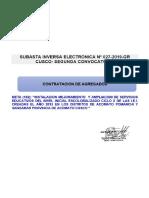 SUBASTA INVERSA ELECTRONICA N° 027-2019-GR CUSCO- SEGUNDA CONVOCATORIA