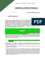 Conferencias Marítimas en El Transporte Internacional de Mercancías FRANCO 2003