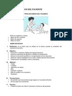 Tipos de Baños Del Paciente