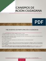 Mecanismos de Participación Ciudadana 6 Presentacion