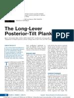 The Long Lever Posterior Tilt Plank
