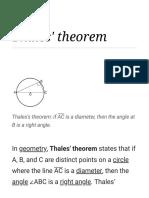 Thales' Theorem - Wikipedia
