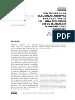 CLAUSULAS ABUSIVAS DESDE LA LEY 1480