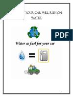 Agua como combustible
