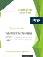 1. Las Condiciones y Criterios de Decisión (1ra Parte)