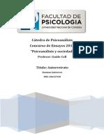 Ensayo Psicoanalisis