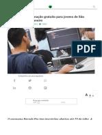 Curso de Programação Gratuito Para Jovens de São Paulo e Rio de Janeiro