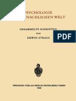 (1960) - Straus (auth.)- Psychologie der Menschlichen Welt. Gesammelte Schriften.pdf