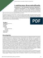 Organización autónoma descentralizada
