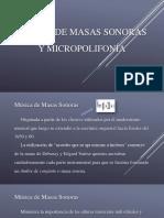 Masas Sonoras & Micropolifonía