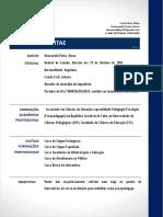 Curriculo Vitae Do Psicopedagogo Kuanzambi Pedro Dieno