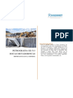Importancia de Las Rocas Metamorficas en La Mineria