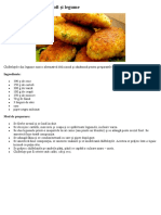 Chifteluțe Din Orez, Cartofi Și Legume