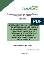 Articulo-Mejoramiento de La Produccion y Comercializacion Dehuevos