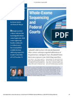 Gendron and Morgan - Whole Exome Sequencing and Federal Courts (FTD January 2019)
